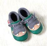 POLOLO SOFT - Chaussons souples en cuir naturel de tannage végétal pour bébés et bambins (16 à 27)/Chausson Pololo HIPPO (18 à 27)