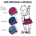 MANYMONTHS Collection LAINE/MANYMONTHS UNIQUE – JUPE PRINCESSE  Dentelle en pure laine mérinos