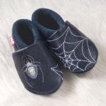 FINS DE SERIES - Chaussons Pololo  en cuir naturel pour toute la famille/Chausson Pololo SPIDER (18/19)