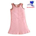 Collection STORCHENKINDER ENFANT (tailles 86-140)/STORCHENKINDER – ROBE ROSE–CANELLE – Coton flanelle bio