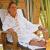 Sauna et Hammam/PEIGNOIR à capuche OM PARADIS BLANC  avec pierres précieuses