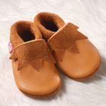 POLOLO SOFT - Chaussons souples en cuir naturel de tannage végétal pour bébés et bambins (16 à 27)/Chausson Pololo SUNNY (18 à 33)