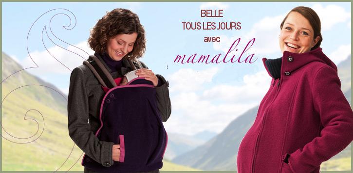 Boutique mamalila, vêtements de portage pour chaque saison.