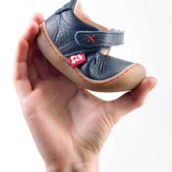 Racine POLOLO - PEDRO Bleu - Sandales premiers pas à semelles souples