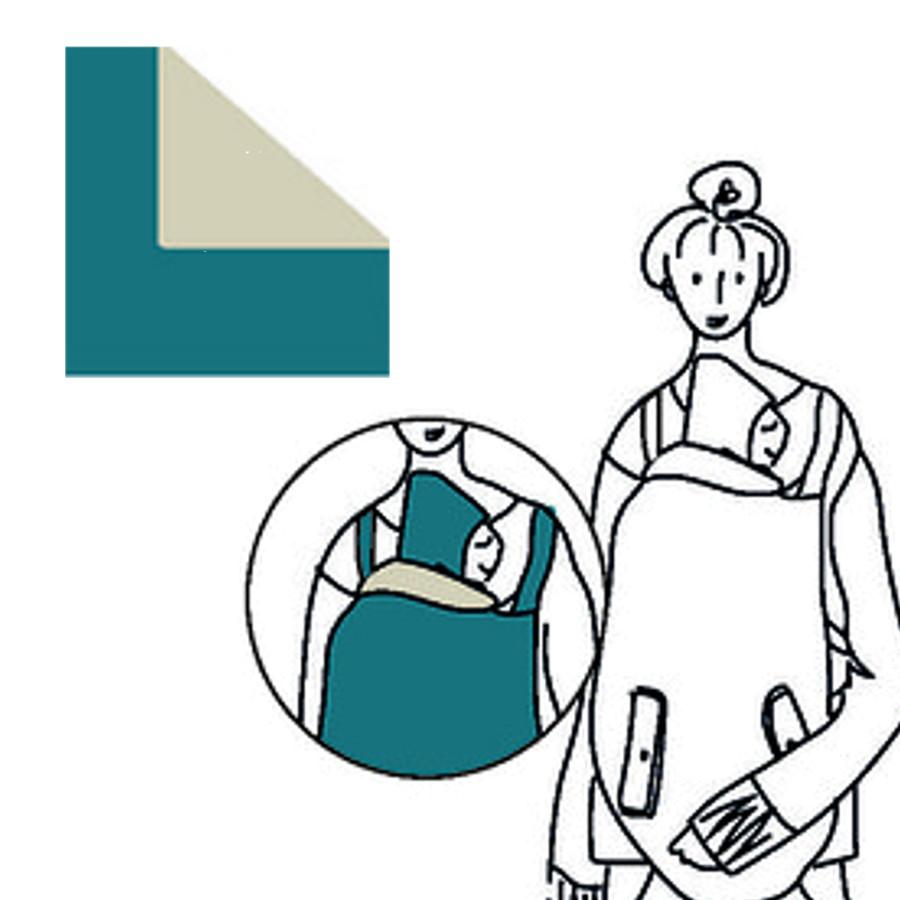 Racine MaM SOFTSHELL 4-SEASON DELUXE BABYWEARING COVER – Couverture de portage 4-SAISONS waterproof déperlant