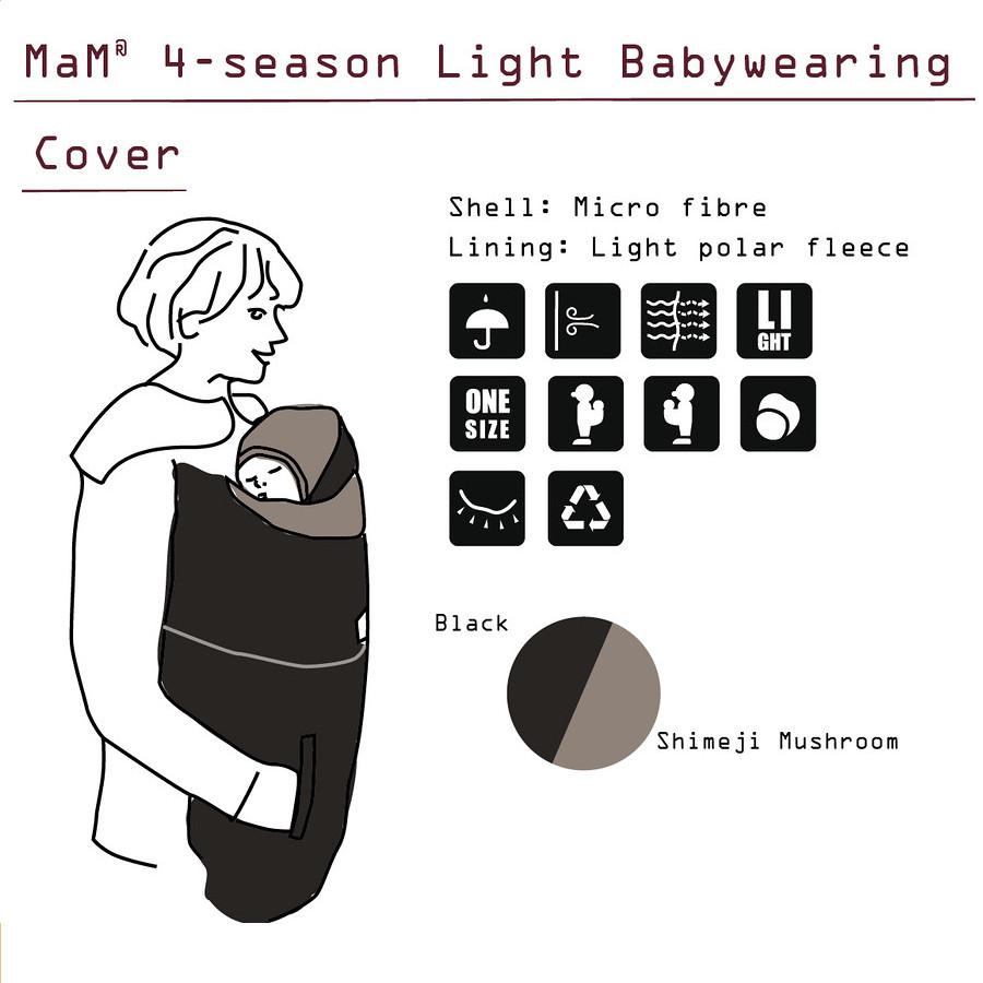 Racine MaM 4-SEASON BAYWEARING COVER LIGHT – Couverture de portage 4 SAISONS Légère