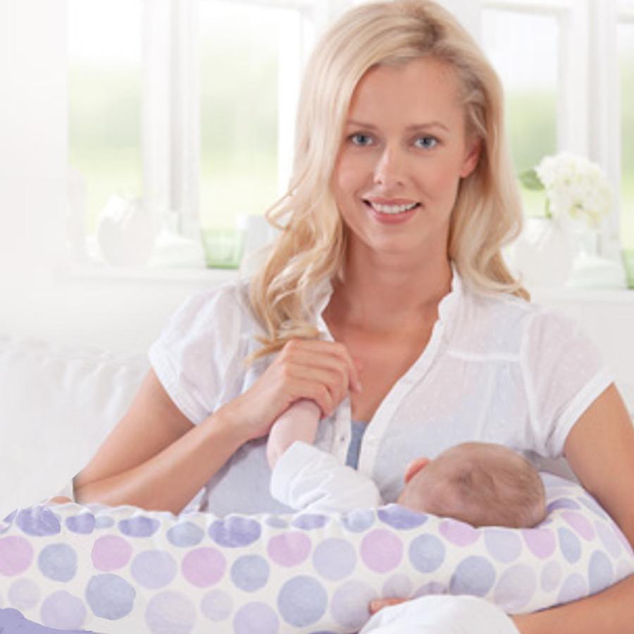 THERALINE ORIGINAL - Le grand coussin d'allaitement et de maternité  «BULLES VIOLET » - THERALINE ORIGINAL Coussin d'allaitement