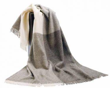 Racine Plaids en pure laine vierge naturelle
