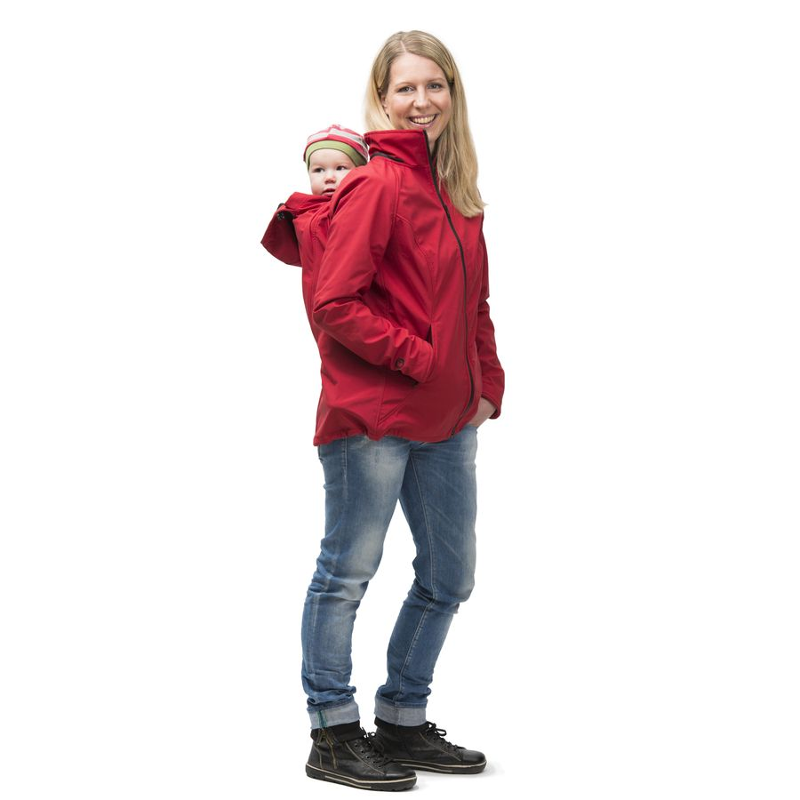 MAMALILA outdoor MAMALILA Veste de grossesse et portage été SYMPATEX – ROUGE