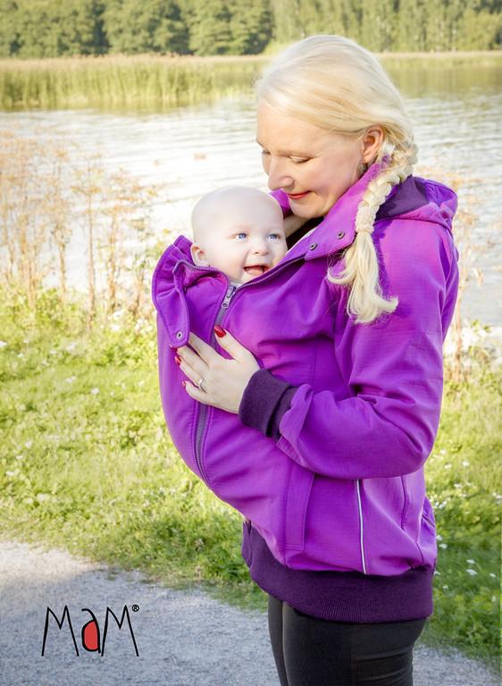 Vêtement de portage et de grossesse MaM SOFTSHELL JACKET - VIOLET CHIMERA