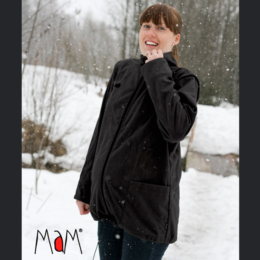 Vêtement de portage et de grossesse MaM Two Way Jacket DELUXE – NOIR
