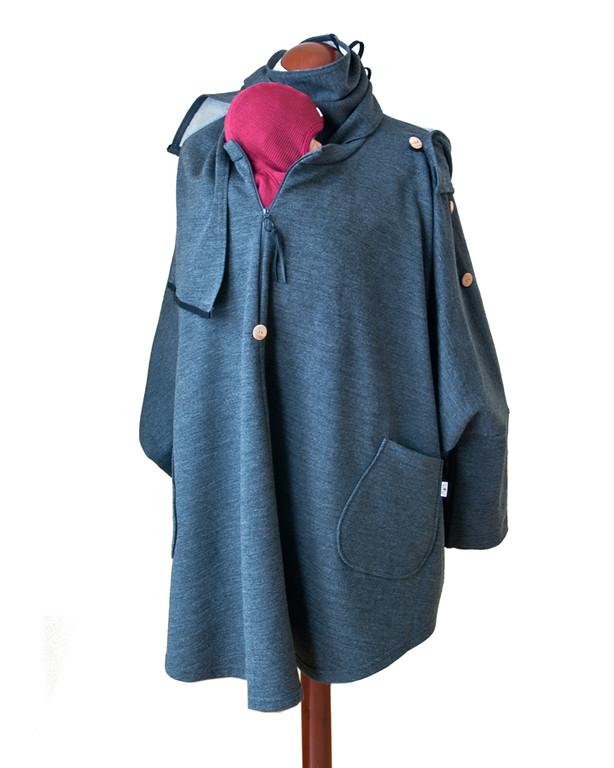 Vêtement de portage et de grossesse MaM AISKA PONCHO LAINE - Poncho de portage