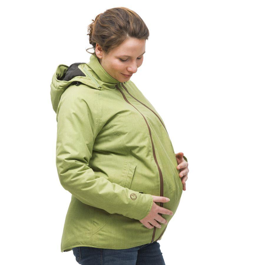 Vêtement de portage et de grossesse MAMALILA Veste de grossesse et de portage HIVER – PISTACHE