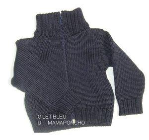 Racine mamaponcho - GILET ENFANT en pure laine