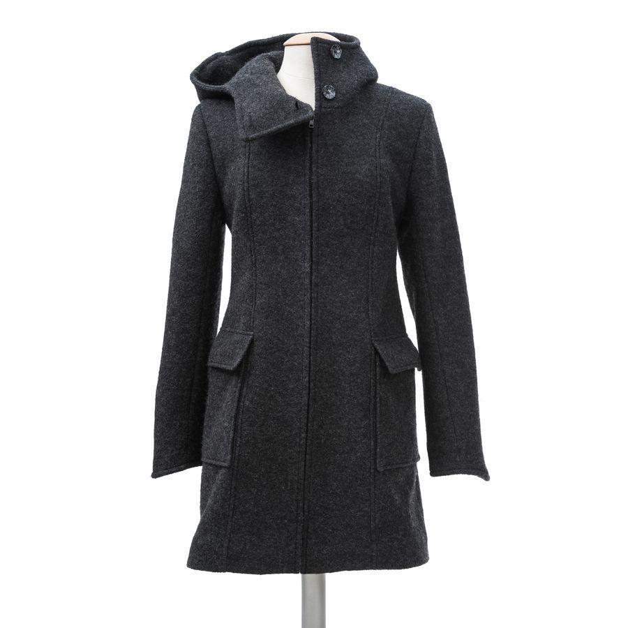 Vestes et manteaux MaM MAMALILA MANTEAU de grossesse et portage en LAINE – ANTHRACITE empiècements inclus