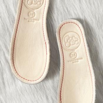 POLOLO MINI - chaussures en cuir naturel pour bébés du 19 au 25 Pololo – Semelles en cuir et laine (19 au 34)