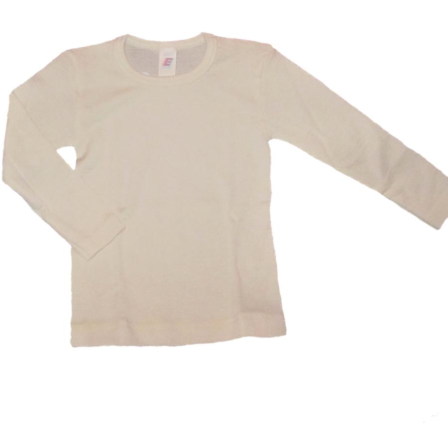 Sous-vêtements SOUS-PULL manches longues ECRU en laine/soie (tailles 62 à 152)