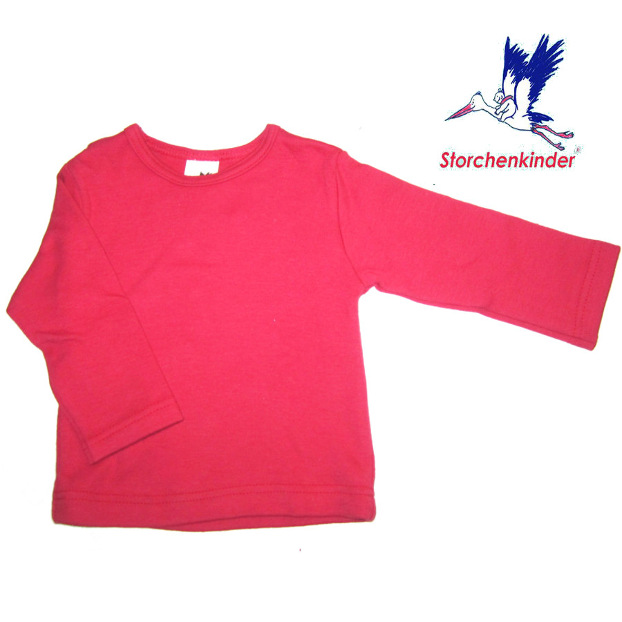 Racine STORCHENKINDER - T-Shirt BEBE manches longues ROUGE (62/68)