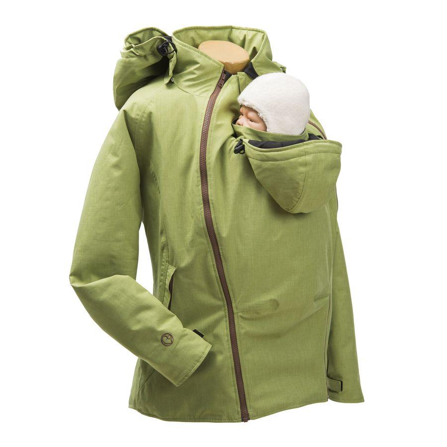 Vestes et manteaux MAMALILA outdoor MAMALILA - Veste de grossesse et de portage HIVER – PISTACHE