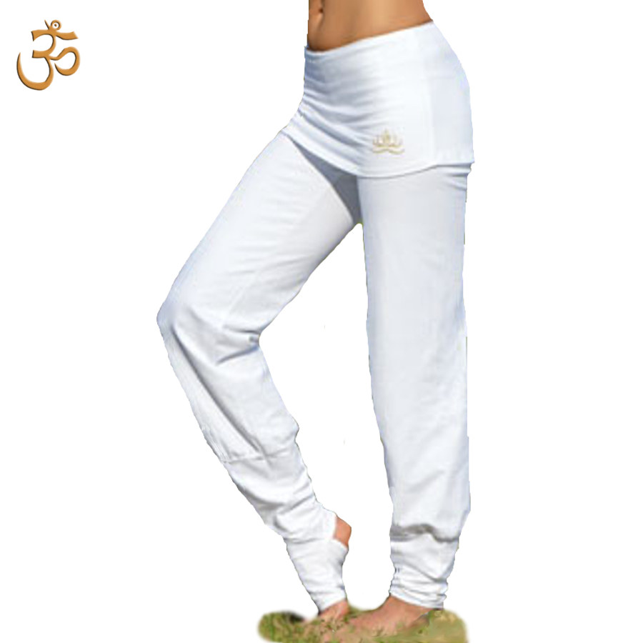Pantalons Pantalon de Yoga ASANA – BLANC
