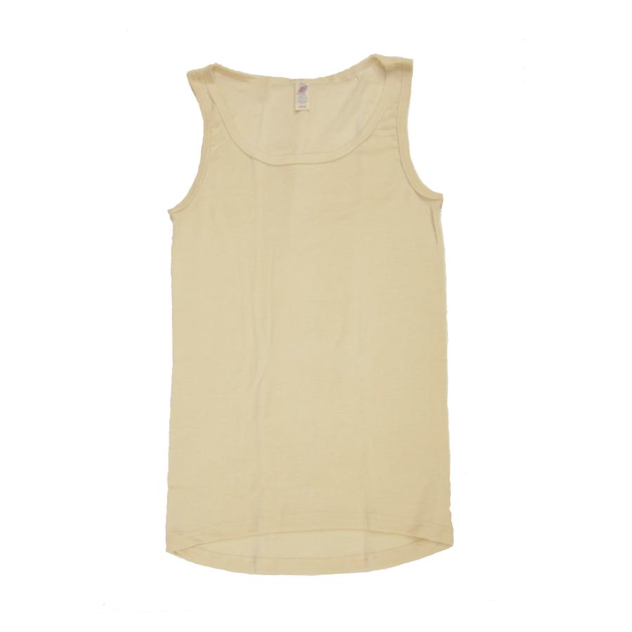 Sous-vêtements DEBARDEUR enfant ECRU en laine/soie (tailles 86 à 152)