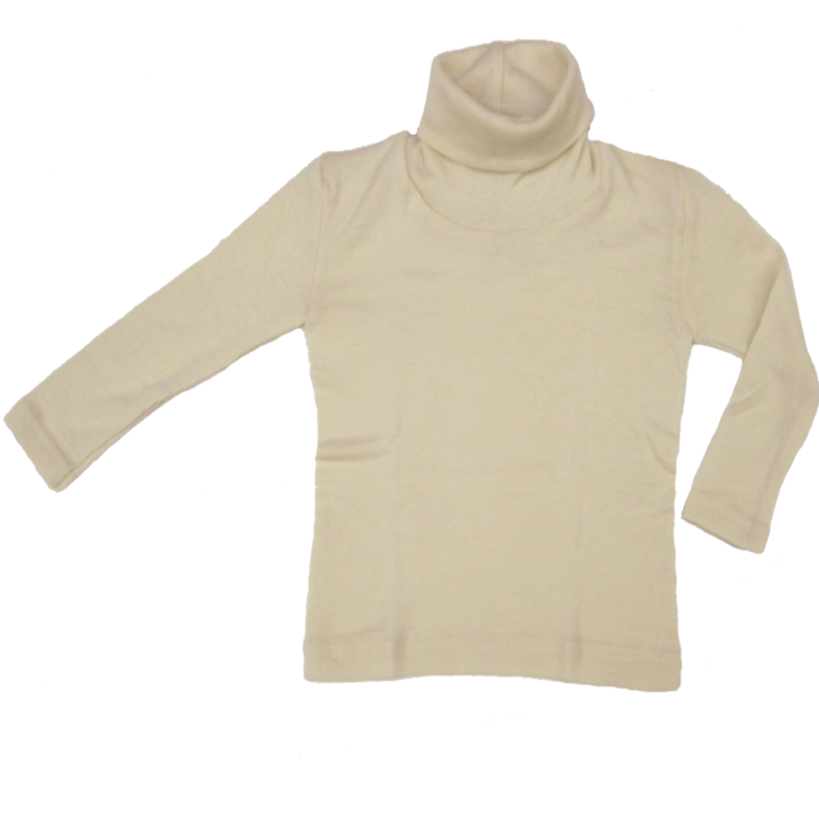 Racine ENGEL - Col roulé Ecru en laine/soie (tailles 86-140)