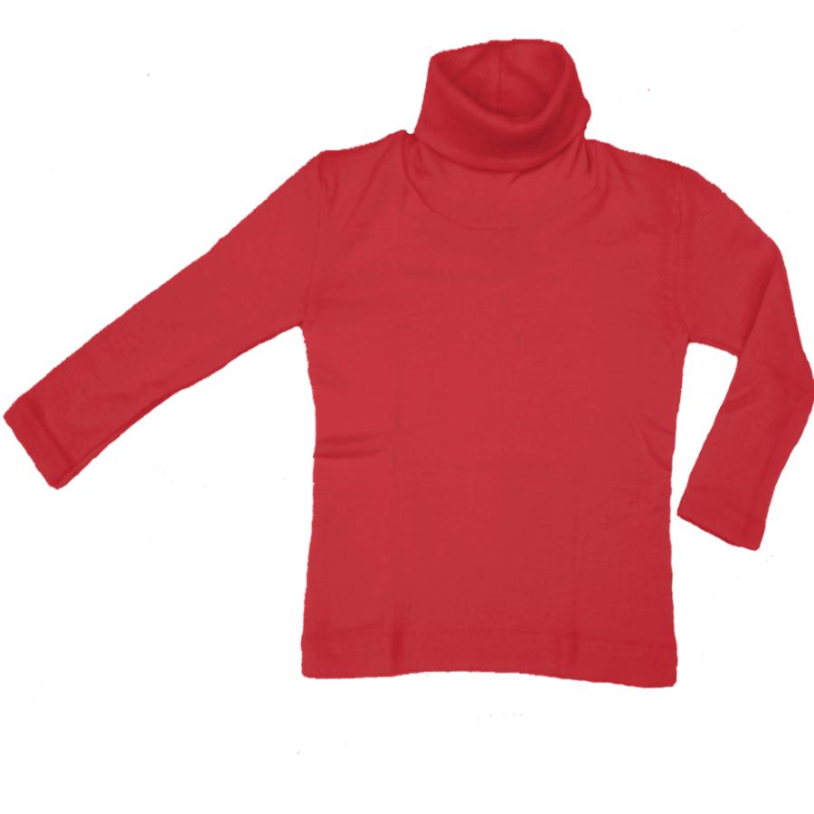Sous-vêtements ENGEL - Col roulé Rouge en laine/soie (tailles 86-140)