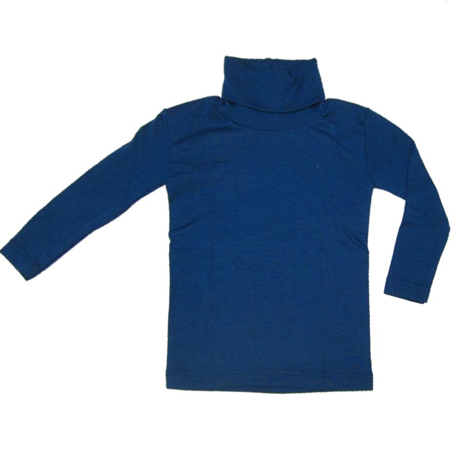 ENGEL Natur ENGEL - Col roulé Bleu en laine/soie (tailles 86-140)