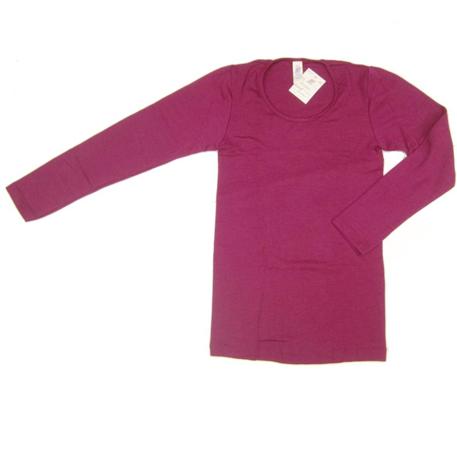 Vêtements et sous-vêtements laine et soie Engel Natur SOUS-PULL en laine/soie FEMME – ORCHIDEE