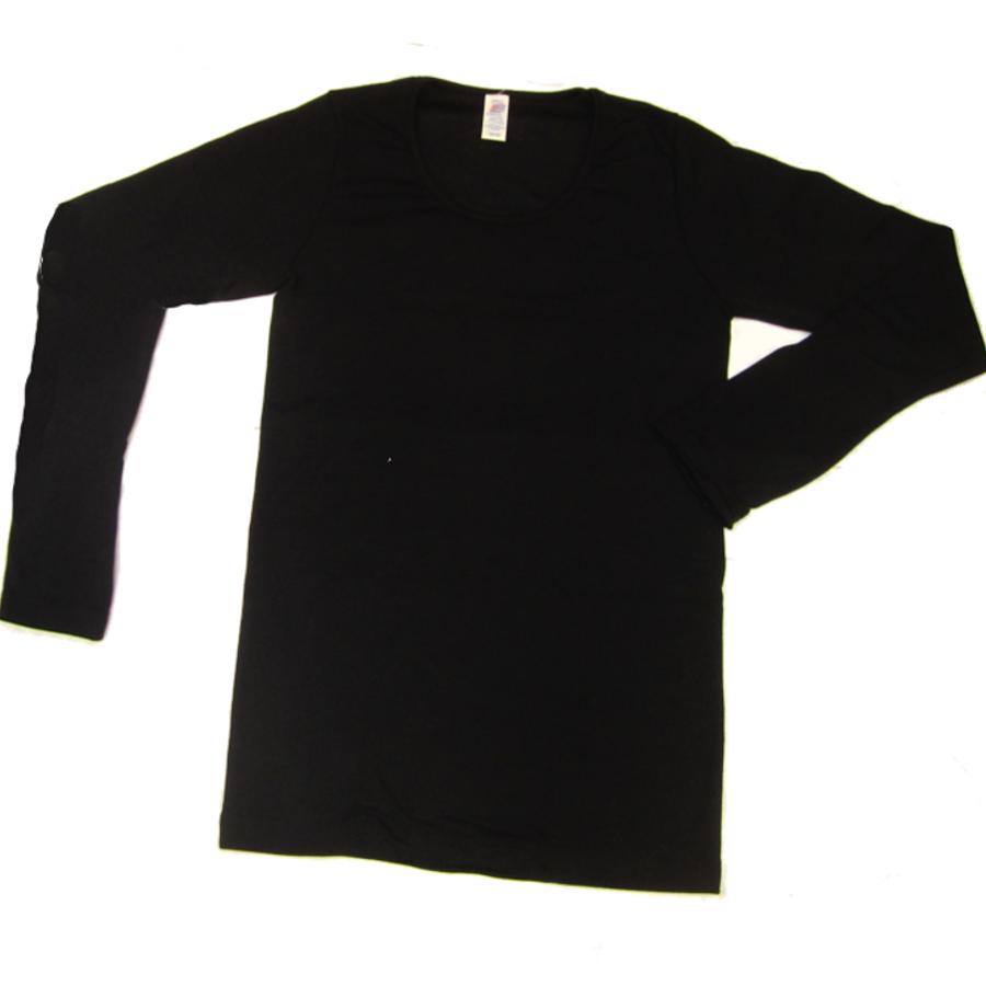 Vêtements et sous-vêtements laine et soie Engel Natur SOUS-PULL en laine/soie – HOMME NOIR