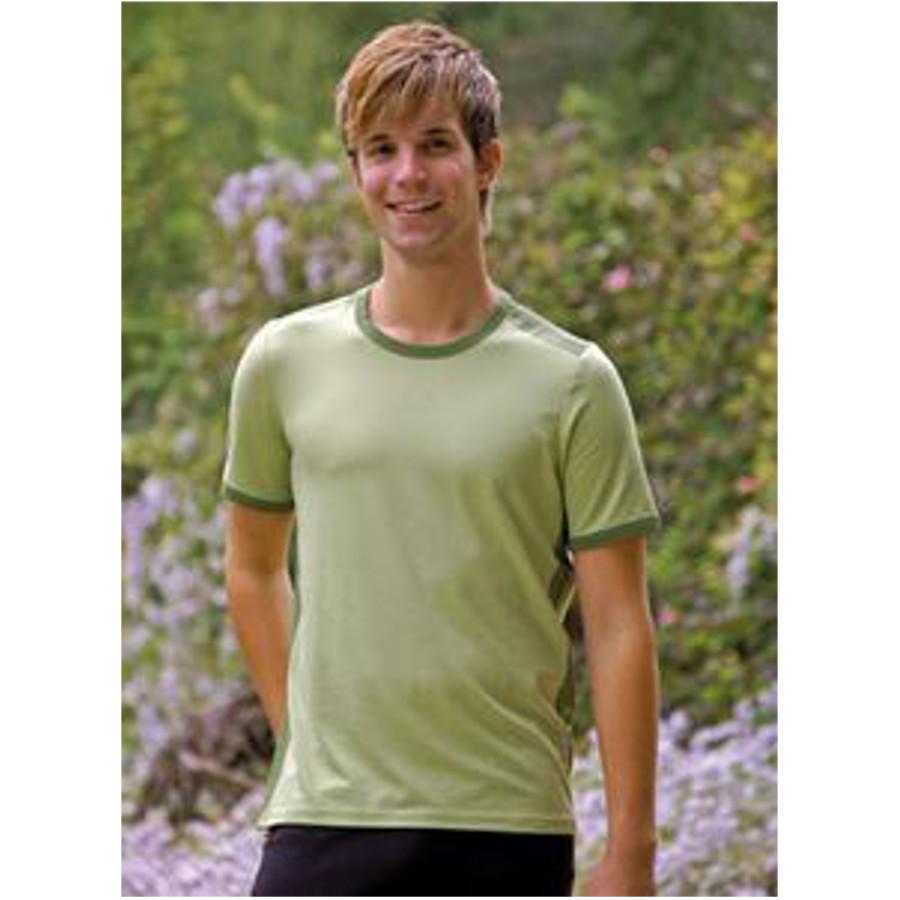 Pour homme T-Shirt en bambou manches courtes – VERT Bambout-Mousse