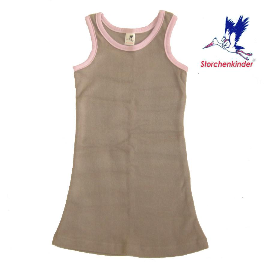 Collection STORCHENKINDER ENFANT (tailles 86-140) STORCHENKINDER – ROBE CANELLE–ROSE - Coton flanelle bio