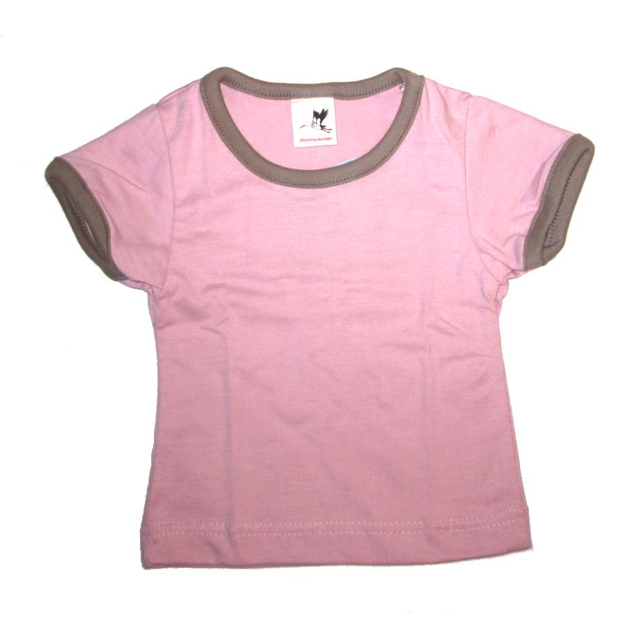 Racine STORCHENKINDER – T-Shirt manches courtes ROSE en coton bio