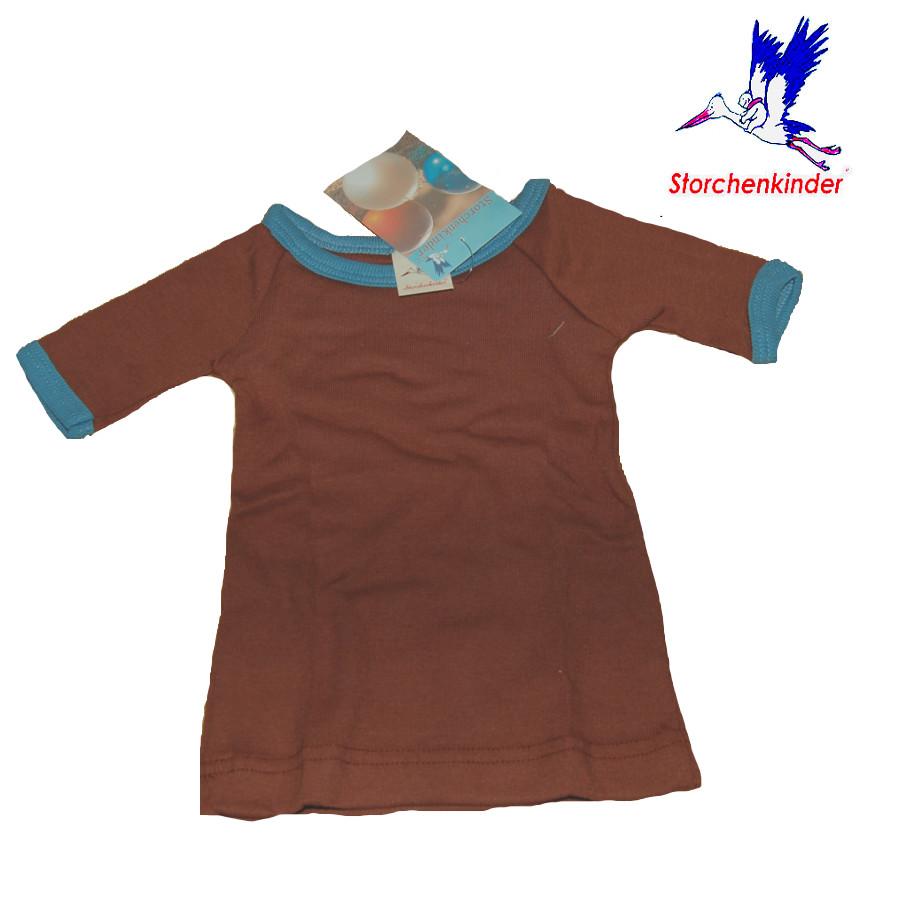 Racine STORCHENKINDER - T-Shirt NOUVEAU-NE en coton bio CHOCOLAT - taille 50/56