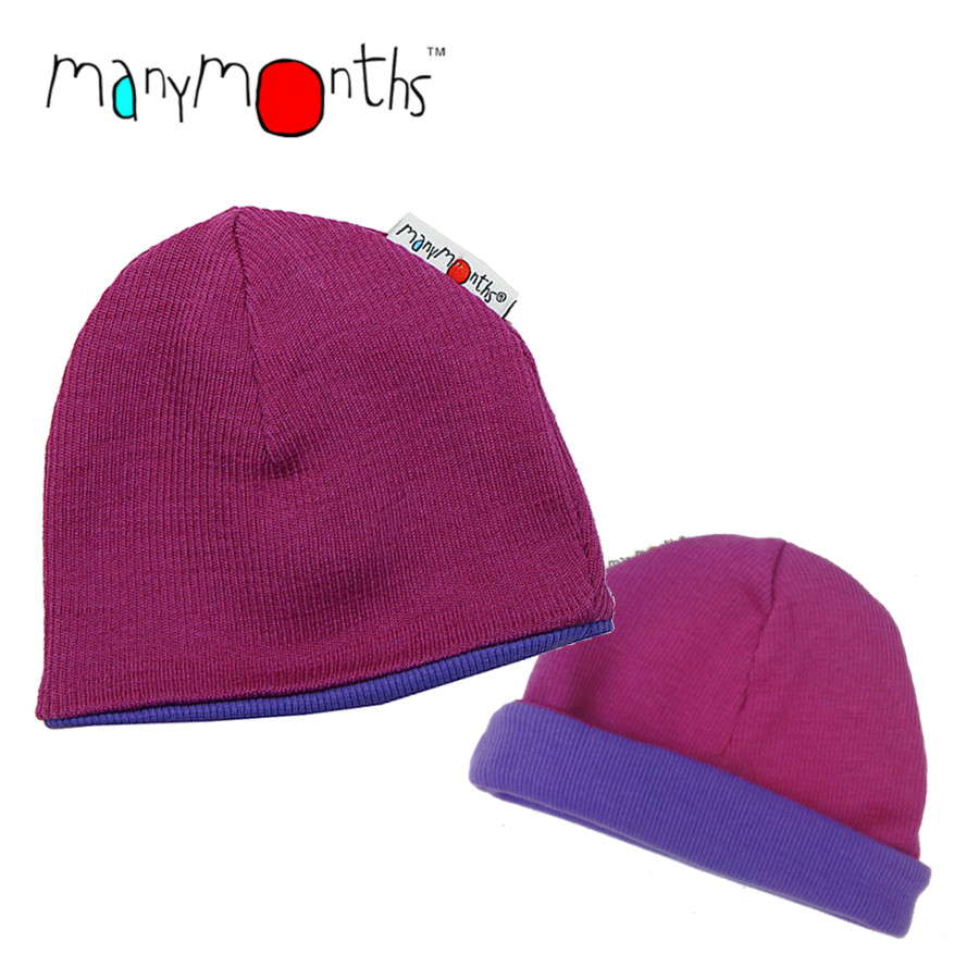 Laine 100% mérinos Ancienne Collection MANYMONTHS - BEANIE - Bonnet reversible
