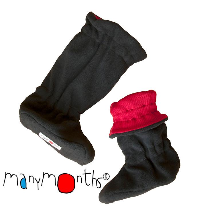 Chaussons et Chaussures MANYMONTHS – CHAUSSONS DE PORTAGE ajustables en laine/polaire