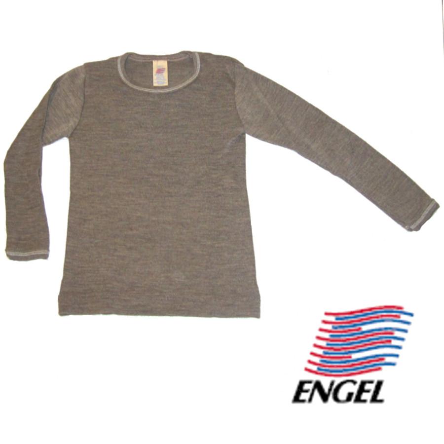 Racine ENGEL – SOUS-PULL manches longues NOIX en laine/soie (86-152)