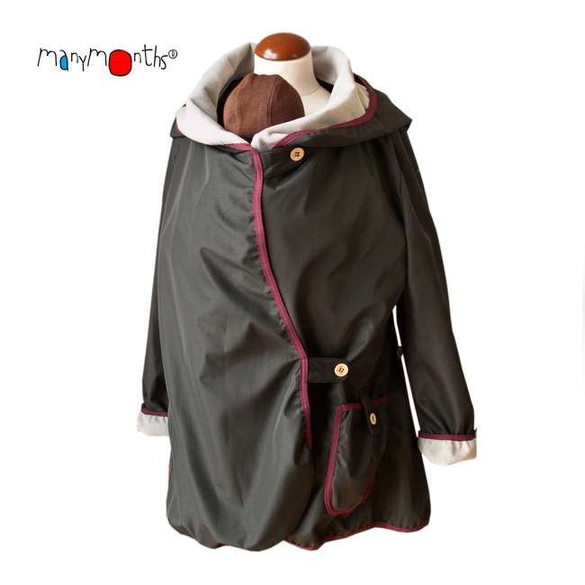 Racine MaM MOTHERHOOD COAT – SHADY NIGHT – Veste de maternité Portage Ventre/Dos Imperméable
