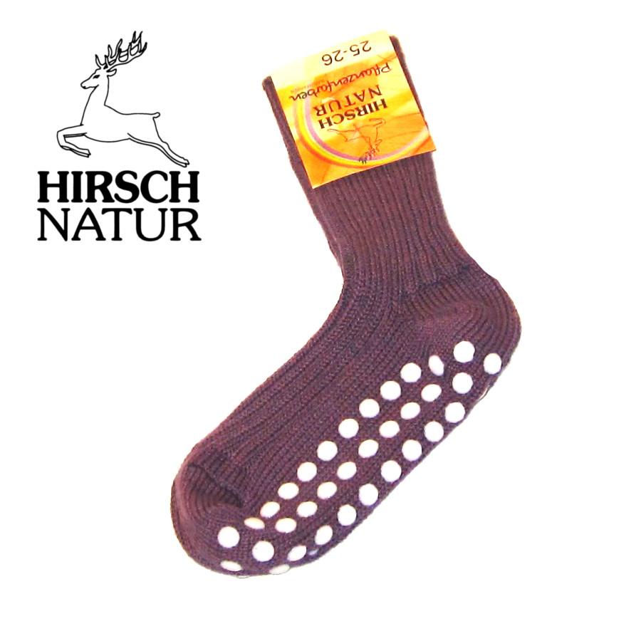 Chaussettes Hirsch - Chaussettes anti-dérappantes en coton bio - teinture végétale - Lavande