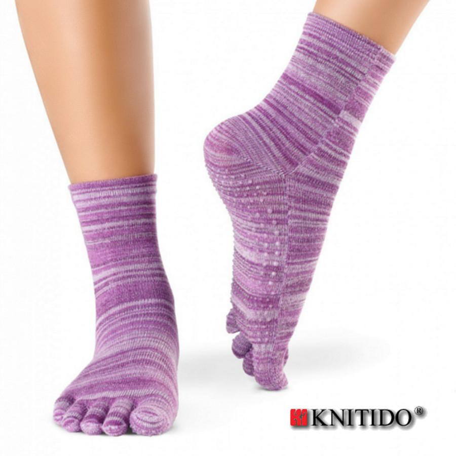Chaussettes à doigts KNITIDO Knitido  - Chaussetttes à orteils anti-dérapantes – VIOLET