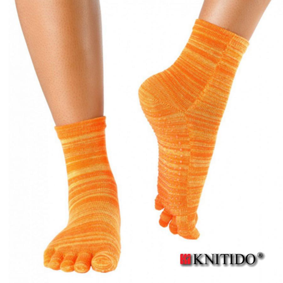 Chaussettes à doigts KNITIDO Knitido - Chaussetttes à orteils anti-dérapantes – ORANGE