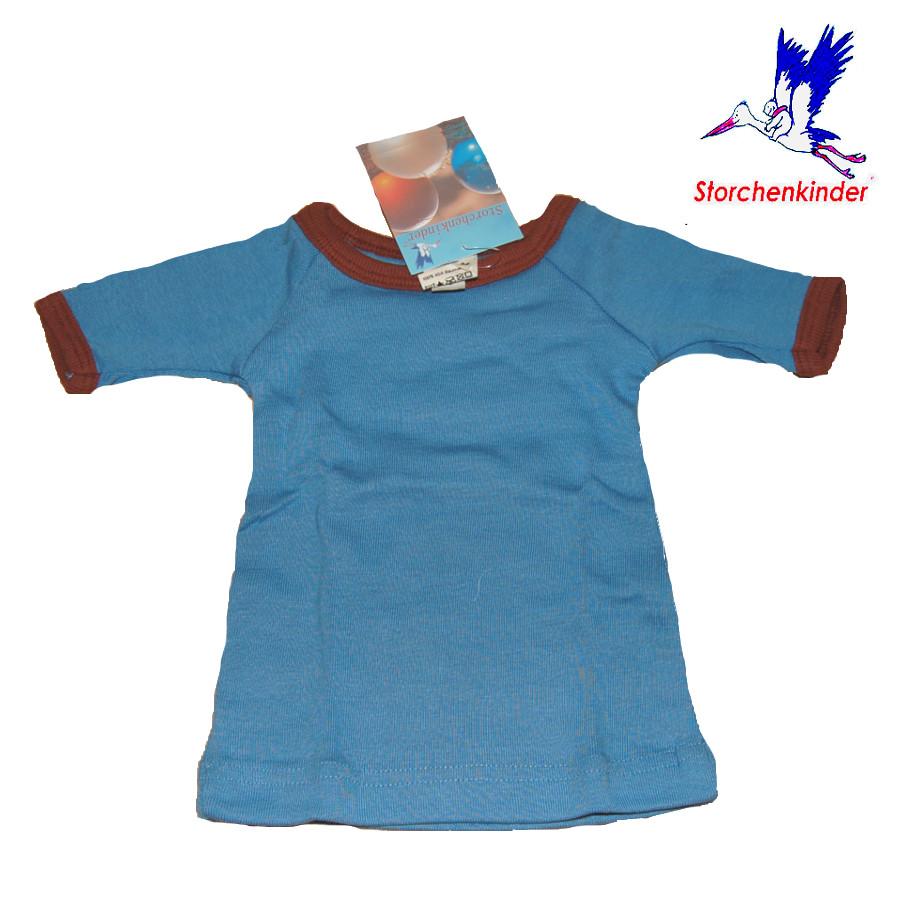Racine STORCHENKINDER - T-Shirt NOUVEAU-NE en coton bio BLEU - taille 50/56