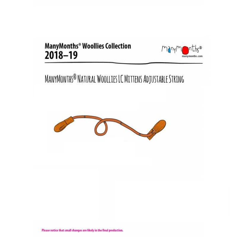 Racine MANYMONTHS 2018/19 – Cordelette pour MOUFLES en pure laine mérnos (vendu seul)