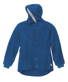 DISANA DISANA - Manteau en laine mérinos bouillie bio avec capuche doublé coton bio
