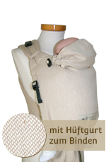 Babycarrier STORCHENWIEGE BABYCARRIER Storchenwiege SLIM Ecru nature