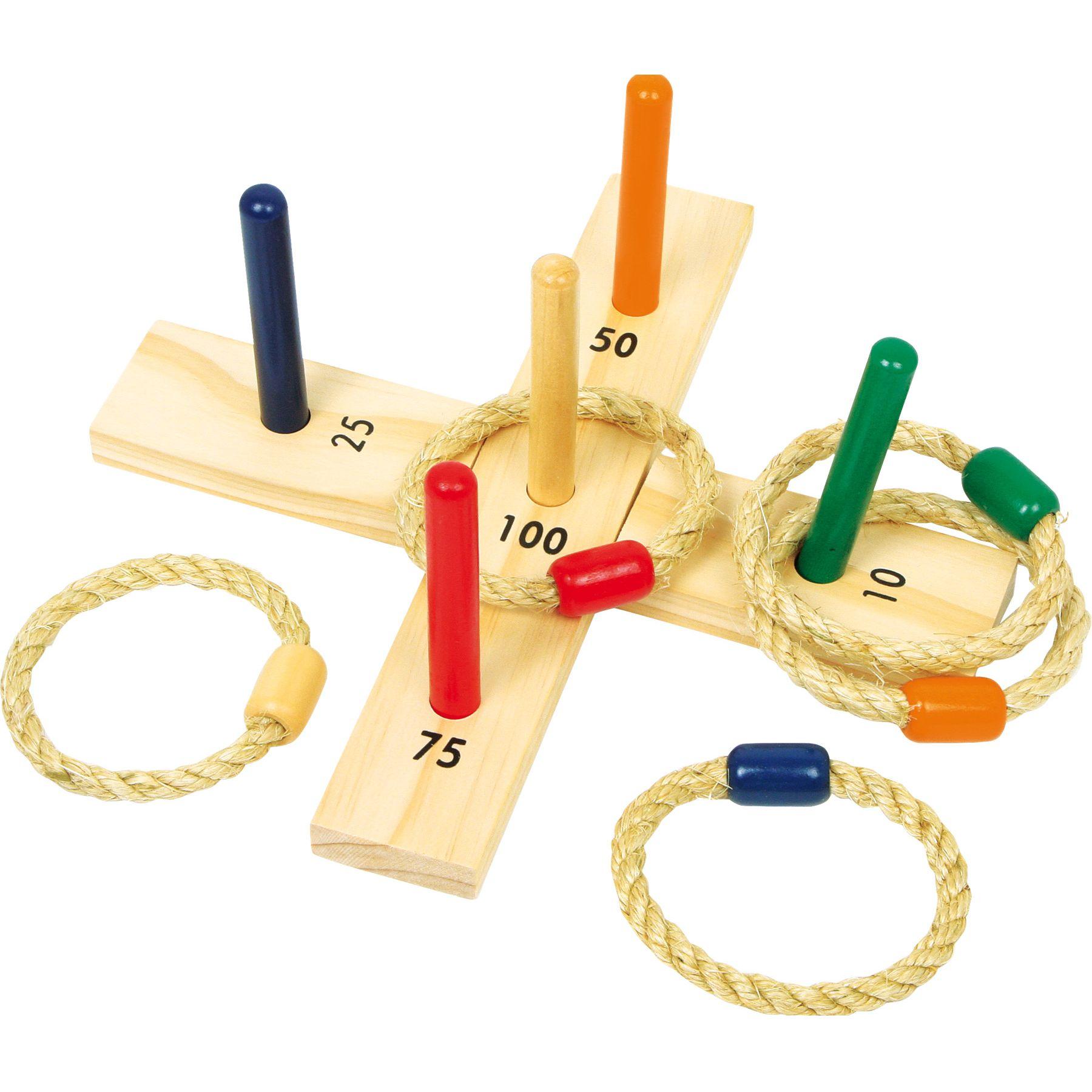 Jeux et Jouets Lelgler - Small foot Jeu de lancer d'anneaux