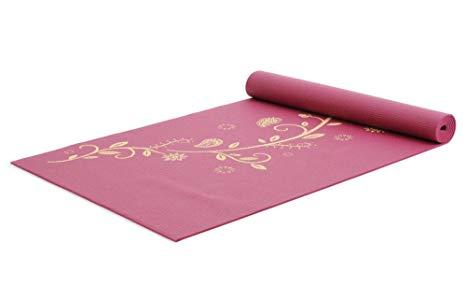 Tapis de yoga et massage YOGISTAR - Tapis de Yoga Mat Indian Flower