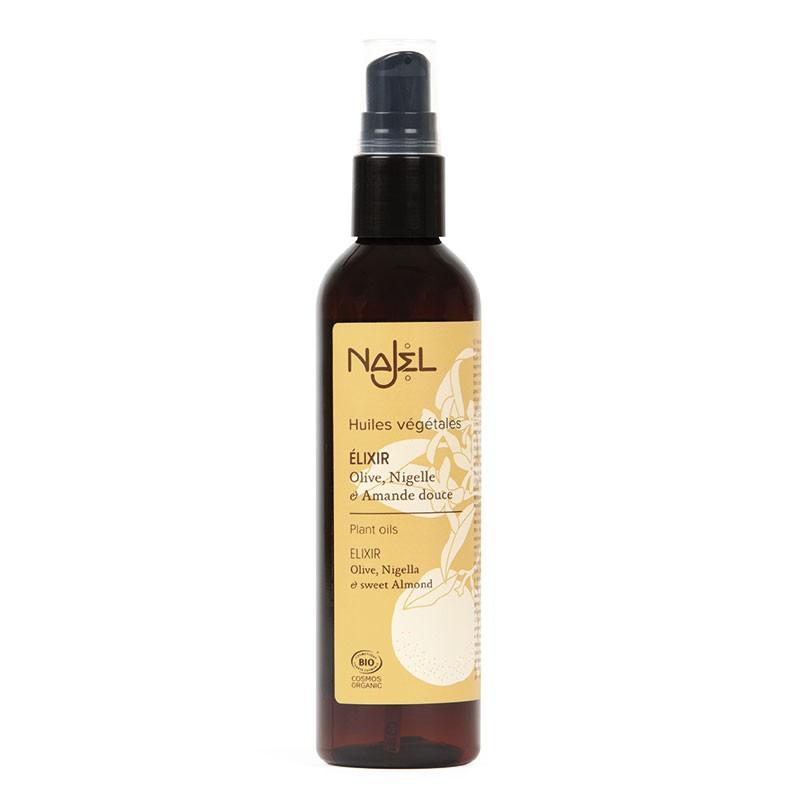 Soins corps, cheveux, ongles, visage NAJEL - Élixir aux trois huiles certifié Cosmos Organic - 125 ml