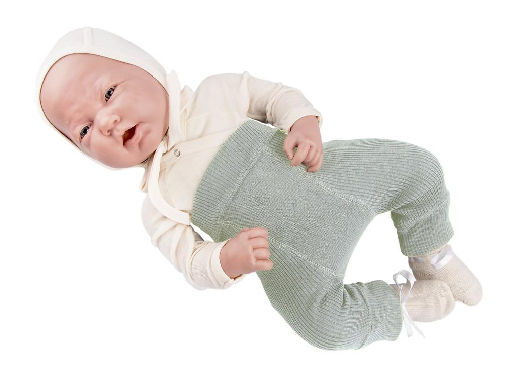 Shorts, shortys, longies, leggings, collants, salopette MANYMONTHS 2019/20 – Longies réversible -pantanlon bébé en pure laine mérinos