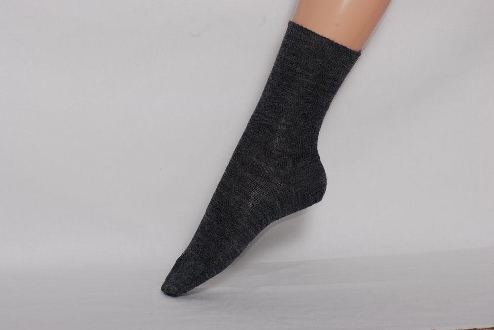 Chaussons en cuir souples, chaussettes, guêtres, jambières Hirsch 2019 - Chaussettes Fines Adultes  - pure laine mérinos bio